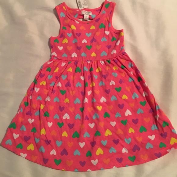 NWT The Childrens Place Unicorn Girls Sleeveless White Dress 3T 4T 5T